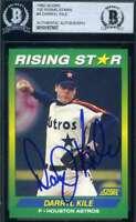 Darryl Kile 1992 Score Rising Stars BAS Beckett Autograph Authentic Hand Signed