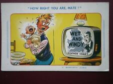 POSTCARD COMIC HOW RIGHT YOU ARE - WET & WINDY