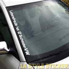 LEBENSFREUDE Aufkleber VW Aufkleber Frontscheibenaufkleber Volkswagen Sticker
