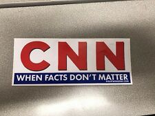 CNN Fake news network vinyl decal sticker Donald Trump  When Facts Don't Matter
