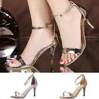 New Women Ladies Sexy High Heel Stiletto Pumps Sandal Peep-toe Ankle Strap Shoes