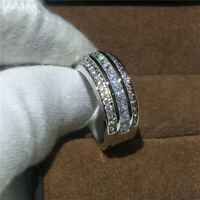 2.00 Carat Diamond Unique Engagement Ring Eternity Band Solid 14K White Gold
