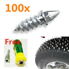 100x Auto Winter Tire Stud Spike Screw Wheel Snow Ice Road Nail Accessories H27
