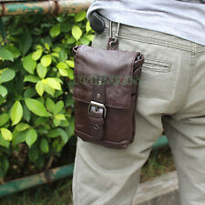 Men's PU Leather Hook Shoulder Messenger Belt Hip Bum Fanny Pack Waist Bag Pouch