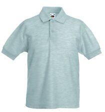 Magliette, maglie e camicie grigio in poliestere per bambini dai 2 ai 16 anni