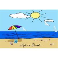 Rainbow Life's A Beach Refrigerator Magnet