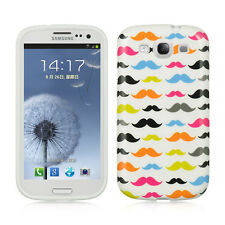 For Samsung Galaxy S III 3 TPU CANDY Flexi Gel Skin Case Phone Cover Mustaches