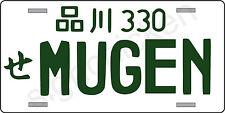 MUGEN TYPE  JAPAN ALUMINUM UNIVERSAL LICENSE PLATE HONDA CIVIC ACCORD RSX R