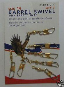 EAGLE CLAW Brass Barrel Swivels Size 14 Qty (7)1041-014