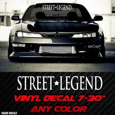 Street Legend JDM Sticker Decal Windshield Banner Import Tuner