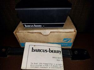 Vintage barcus-berry 1430 Preamp Preamplifier Pro Audio DI Box NOS Instrument