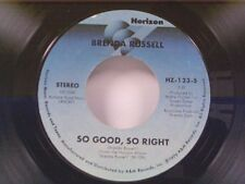 """BRENDA RUSSELL """"SO GOOD SO RIGHT / YOU'RE FREE"""" 45 NEAR MINT"""