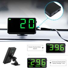 Universal Digital Car Bike Motorcycle GPS HUD Speedometer Speed Display KM/h MPH