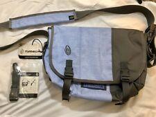 Timbuk2 Classic Messenger Bag Size Small Quartz Blue Gunmetal Cordura Fabric