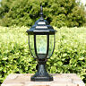 Pillar Light Outdoor Yard Garden Path Post ShadeLamp Walkway Lantern BlackBronze