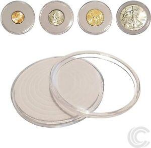 * #100mm Coin capsules pour monnaies médailles jetons chips Rounds médaillons