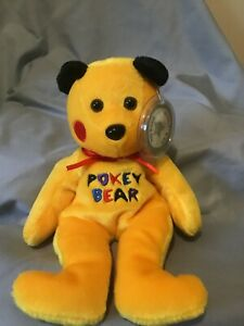 "1999 Vintage Celebrity Bear ""Pokey Bear"" Pokemon PIKACHU Born A Star"