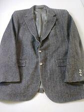 PBM Maillards Mens Sport Coat Size 42R Gray Herringbone Camel Hair 2 Button Vent