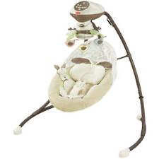 Fisher-Price Baby Cradle Swing 6-Speed Nursery Infant Home Bedroom Rechargeable