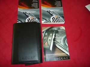 JAGUAR XF 2008 EARLY STYLE HANDBOOK PACK AND WALLET