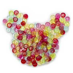 100pcs Mixed Round Resin Buttons for Sewing Scrapbooking Home Crafts Decor 11mm