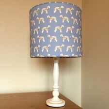 Bedlington Terrier Dog Print Fabric Lamp