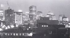 "DR KC BROWN AUSTRALIAN LARGE PHOTOGRAPH B&W ""MELBOURNE SKYLINE AT NIGHT"" 1980 A"