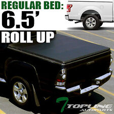 Topline For 2015-2018 Ford F150 6.5 Ft Bed Lock & Roll Up Vinyl Tonneau Cover