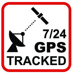 6x Aufkleber GPS Tracking Alarm Warnung 30x30mm Druck auf weiß mit UV Schutzlack