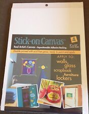 """Stick on canvas 9""""x12"""" 4 pack"""