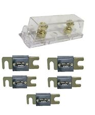 NY SP Anl Fuse Holder Distribution Inline 0 4 8 Ga Gold Plated 200A Fuse Skfh100