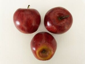 "Artificial Dark Red Honey Crisp Apple Fake 3"" Single Dark Red Apple Fruit"