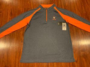 Colosseum Men's Virginia Cavaliers Football Lightweight 1/4 Zip Jacket XL UVA
