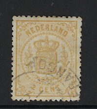 NETHERLANDS : 1870 2c dull -yellow SG 61a used
