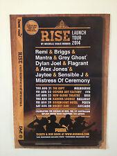 RISE Oz Hip Hop Book Launch 2014 Australian Tour Poster BRIGGS REMI MANTRA *NEW*