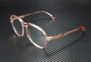 GUCCI GG0259O 005 Round Oval Orange Trans Org Demo Lens 55 mm Women's Eyeglasses