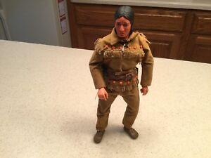 "Vintage Action Figure Gabriel Hubley Tonto Used 10"""