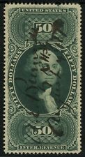 #2 R101c $50 INTERNAL REVENUE First Issue Tax Stamp CV$210 Manuscript Cancel