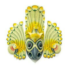 "Hand Carved Wooden Wall Decor Peacock Mask 14"" (Harmony for Home, Unique Design)"