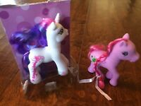 """MY LITTLE PONY  SWEETIE BELLE 5"""" WHITE UNICORN,purple green apple my little pony"""