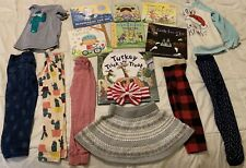 Spring Lot Capsule Of 19 Toddler Girls Size 3T Clothes Books Toys Multi-Color