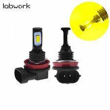 H11 H8 H16 LED CSP 3570-Chips 3000K Yellow 70W 8000LM Bright Fog Light Bulbs US