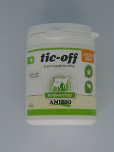 ANIBIO TIC-OFF SKIN PROTECTION POWDER FOR CATS & DOGS 140g MADE IN GERMANY
