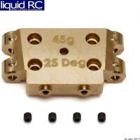 INTEGY RC C26058GREY CNC 25 Degree Front Bulkhead for AE RC10B5 /& B5M ASC90003