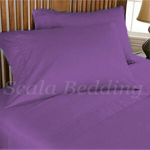 2 piece Pair  Pillowcases 1000 TC 300% Egyptian Cotton Solid All Sizes & Colors
