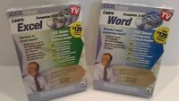 Video Professor Lot of 2 - Learn Microsoft Word and Excel PC - Cd-Rom Software