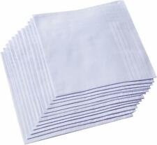 Men's Pure White 100% Cotton Handkerchief Plain Cotton Hanky For Gift