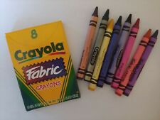 Educational Supplies: Crayola Fabric Crayons (8 in a Pack)  Size: 3 5/8