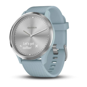 Garmin Vivomove HR Hybrid Smart Watch - Silver with Seafoam Band