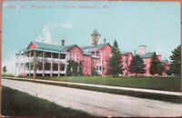 Kalamazoo, MI 1910 Postcard: Michigan Insane Asylum, Male Department - Mich